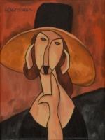 PORTRAIT OF JEANNE HEBUTERNE IN A LARGE HAT